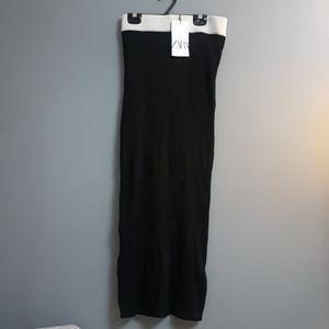 Long black Zara skirt